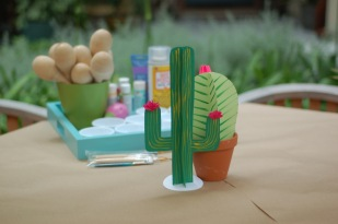 Paint-Your-Own-Maraca Station